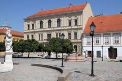 Facades i Osijek royaltyfria bilder