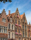 Facades. Jan Van Eyck Square. Bruges. Belgium Stock Photo