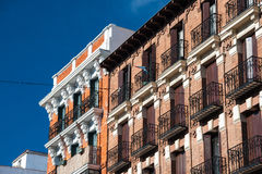 Facades in Madrid, Spain Stock Photography