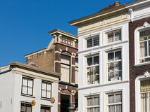 Facades on Market Square in Gouda, Holland Stock Images