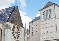 Facades of medieval urban houses in Angers Stock Photography