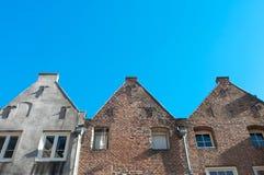 Facades of monumental houses Stock Photos