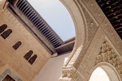 Facades of the Nasrid Alhambra Royalty Free Stock Photos