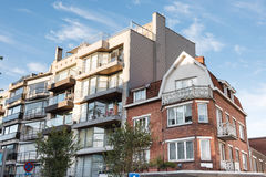 Free Facades Of Old And New Houses In Koksijde, Belgium Royalty Free Stock Image - 83947466