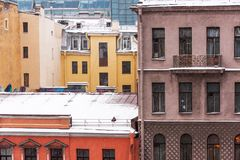 Old apartment buildings St. Petersburd Royalty Free Stock Photography