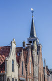 Facades of old houses in Balk. Holland Royalty Free Stock Image