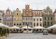 The facades of the old houses on the market square Royalty Free Stock Photos