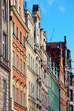 Facades of old houses in Wroclaw, Poland Stock Images