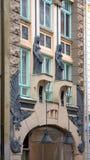 Facades in old Tallinn, Estonia Stock Photo