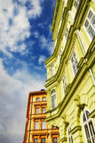Facades in the Old Town, Prague Stock Images