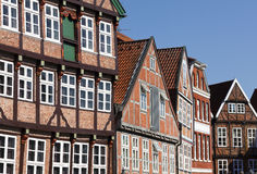 Facades at the old town of Stade Stock Photography