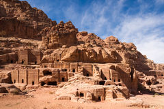 Facades of Petra Royalty Free Stock Photo
