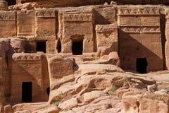 Facades of Petra Stock Photo