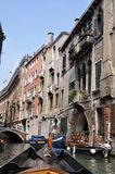 Facades of residential homes in Italy Stock Images