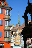 Facades in Rottweil - Baden-Wuerttemberg Stock Photo