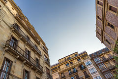 Facades of San Sebastian, Spain Stock Photo