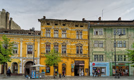 Facades in Sibiu Romania Royalty Free Stock Photography