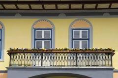 Facades in Sibiu Romania Stock Photos