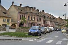 Facades in Sibiu Romania Royalty Free Stock Images