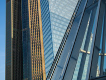 Facades of skyscrapers in the exhibition site in Frankfurt, Germany Stock Image