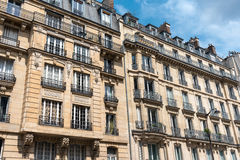 Facades of some buildings in Paris. Facades of some traditional buildings in downtown Paris, France stock images