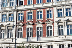 Facades of some old renovated houses in Berlin. Facades of some old renovated houses at the Prenzlauer Berg district in Berlin stock images