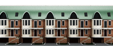 Facades terraced houses Stock Photo