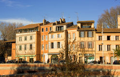 Facades of Toulouse in France. Facade of Toulouse in France Stock Photos