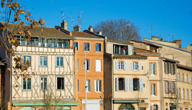Facades of Toulouse. View on facades of Toulouse in France Stock Images