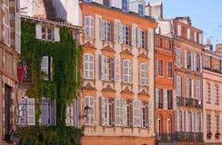 Facades of Toulouse Royalty Free Stock Photos