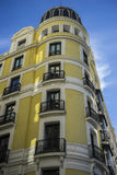 Facades of typical architecture of the capital of Spain, Madrid Stock Image