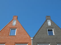 Facades at vathorst. New homes in amersfoort, the netherlands Royalty Free Stock Photo
