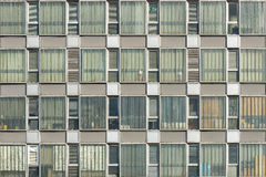 Facades and windows of an empty office building Royalty Free Stock Photography
