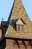 facadess en daken van een historische stad in Zuid-Duitsland royalty-vrije stock afbeelding