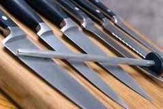 Facas de cozinha Imagem de Stock