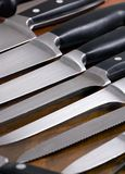 Facas de cozinha 2 imagem de stock
