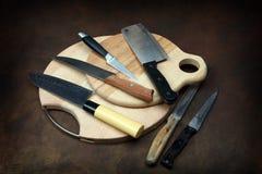 Facas de cozinha foto de stock