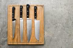 Facas de cozinha ajustadas Imagens de Stock Royalty Free