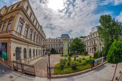 Facca-Romanit Palace, Bucharest, Romania stock images