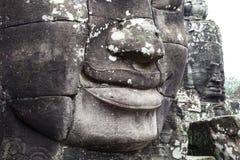 Facce di pietra in Cambogia fotografia stock