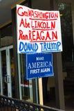 Faccia ancora l'America in primo luogo firmare a raduno di Trump Fotografie Stock Libere da Diritti