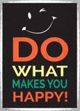 Faccia che cosa vi rende felice Fotografie Stock