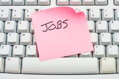 Faccia domanda per i job in linea Immagine Stock
