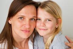 faccia a faccia con la madre Fotografie Stock Libere da Diritti