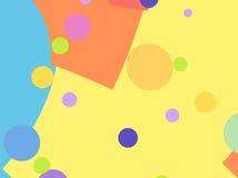Faccia festa il fondo di frattale con le forme variopinte ed i cerchi Immagini Stock Libere da Diritti