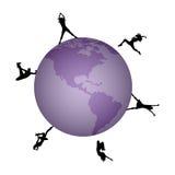 Faccia festa le persone in tutto il mondo Immagine Stock Libera da Diritti