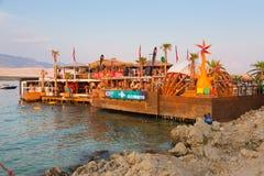 Faccia festa sulla spiaggia di Zrce, Novalja, l'isola del PAG, Croazia Immagini Stock
