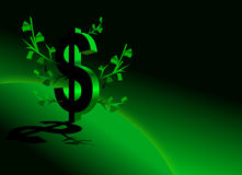 Faccia i soldi Fotografie Stock Libere da Diritti