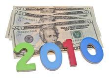 Faccia i soldi in 2010 Fotografie Stock