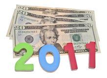 Faccia i soldi in 2011 Fotografia Stock